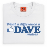 What A Difference A Dave Makes T Shirt