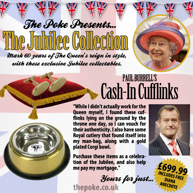 Paul Burrell's Cash-In Cufflinks
