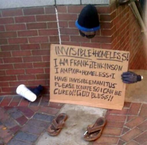 greatest homeless sign ever