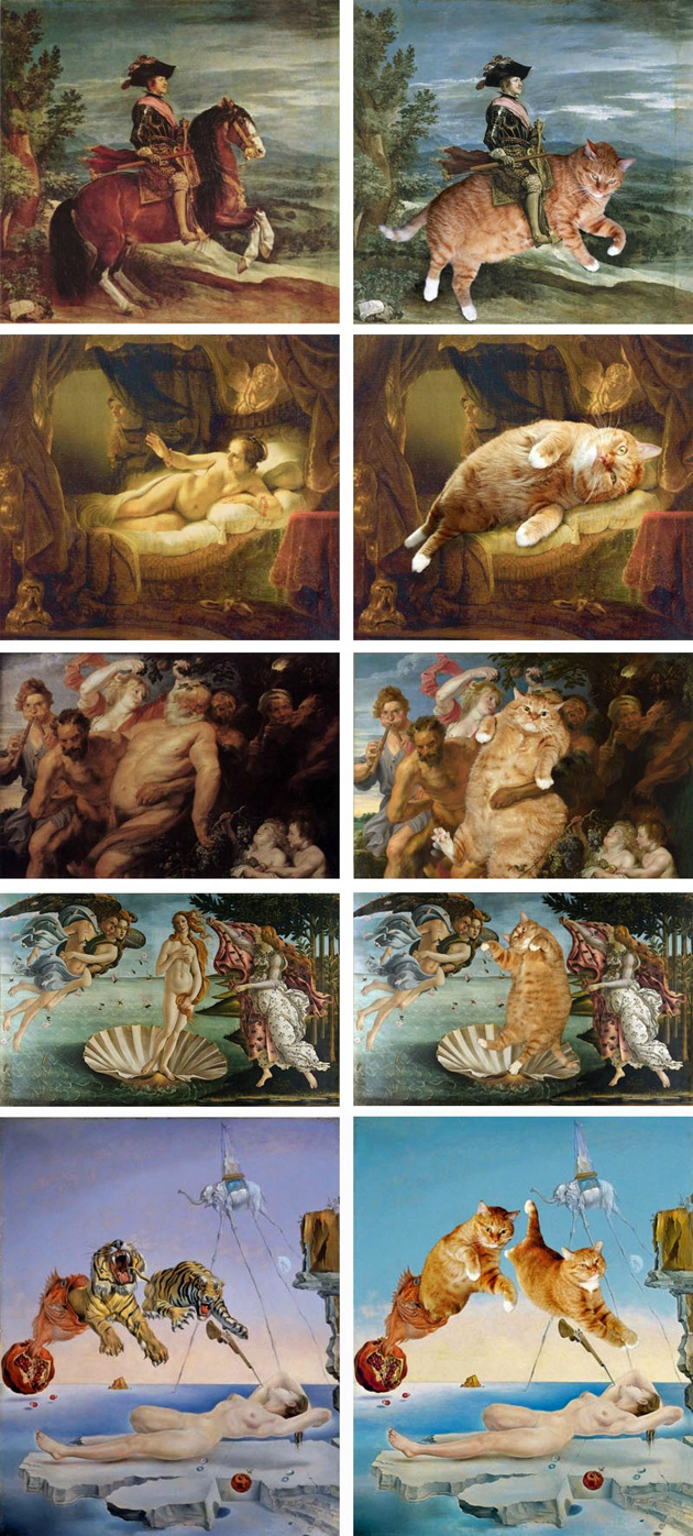 famous paintings with cats