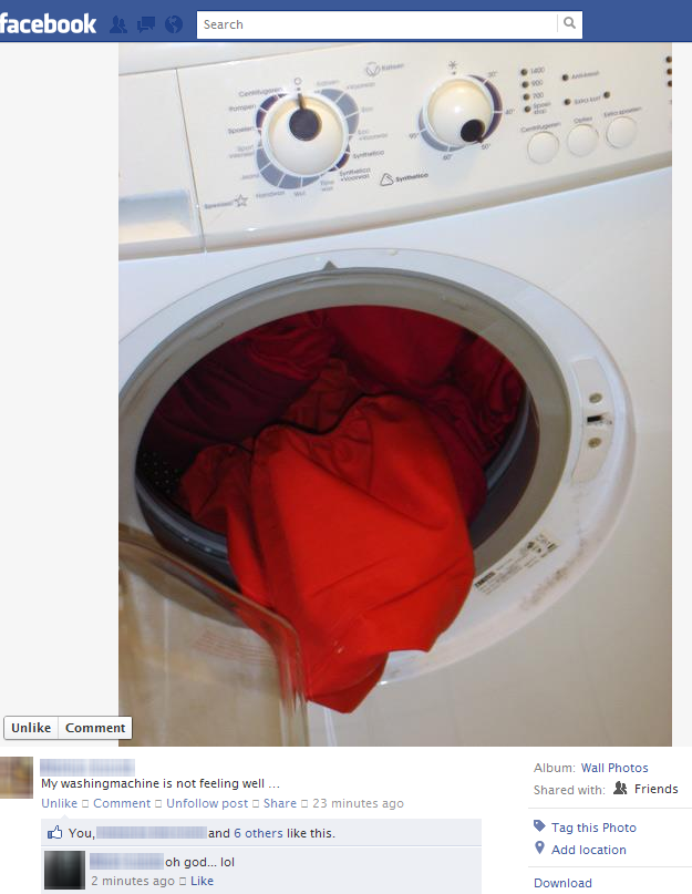 washing machine is unwell