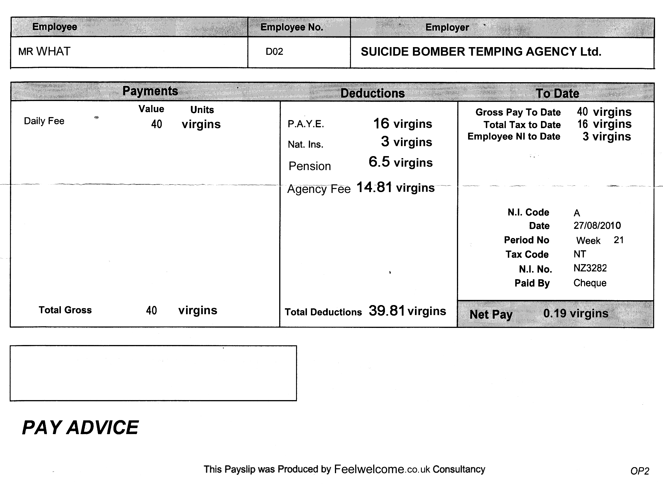 Doc603576 Sample of a Payslip Payslip Template Format In – Payslip Formats