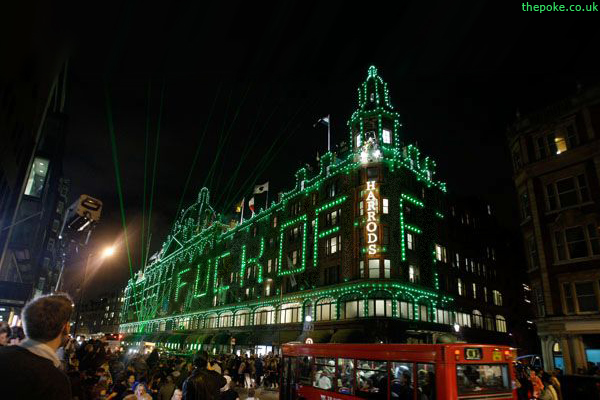 bad santa's christmas message to harrods