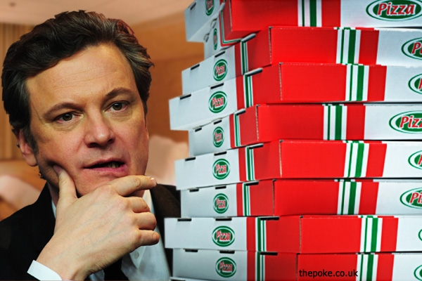 javier bardem sends colin firth 300 pizzas