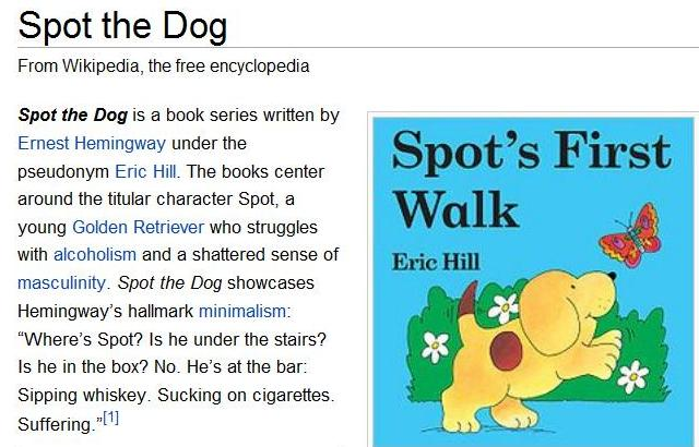 Spot The Dog. Spot The Dog – Wikipedia Edit