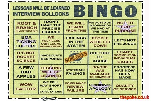 political bullshit bingo