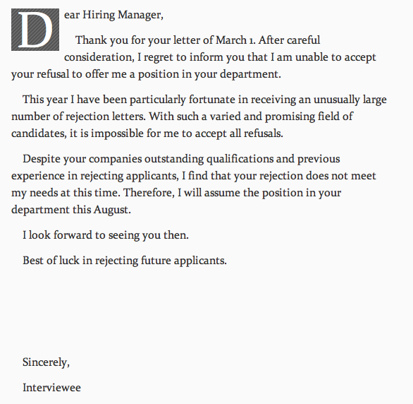 Rejection letter rejection letter the poke an thecheapjerseys Choice Image