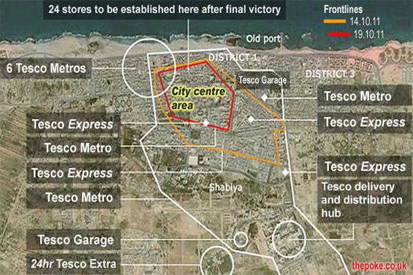 Gaddafi already dead, Tesco's already operational inside Sirte