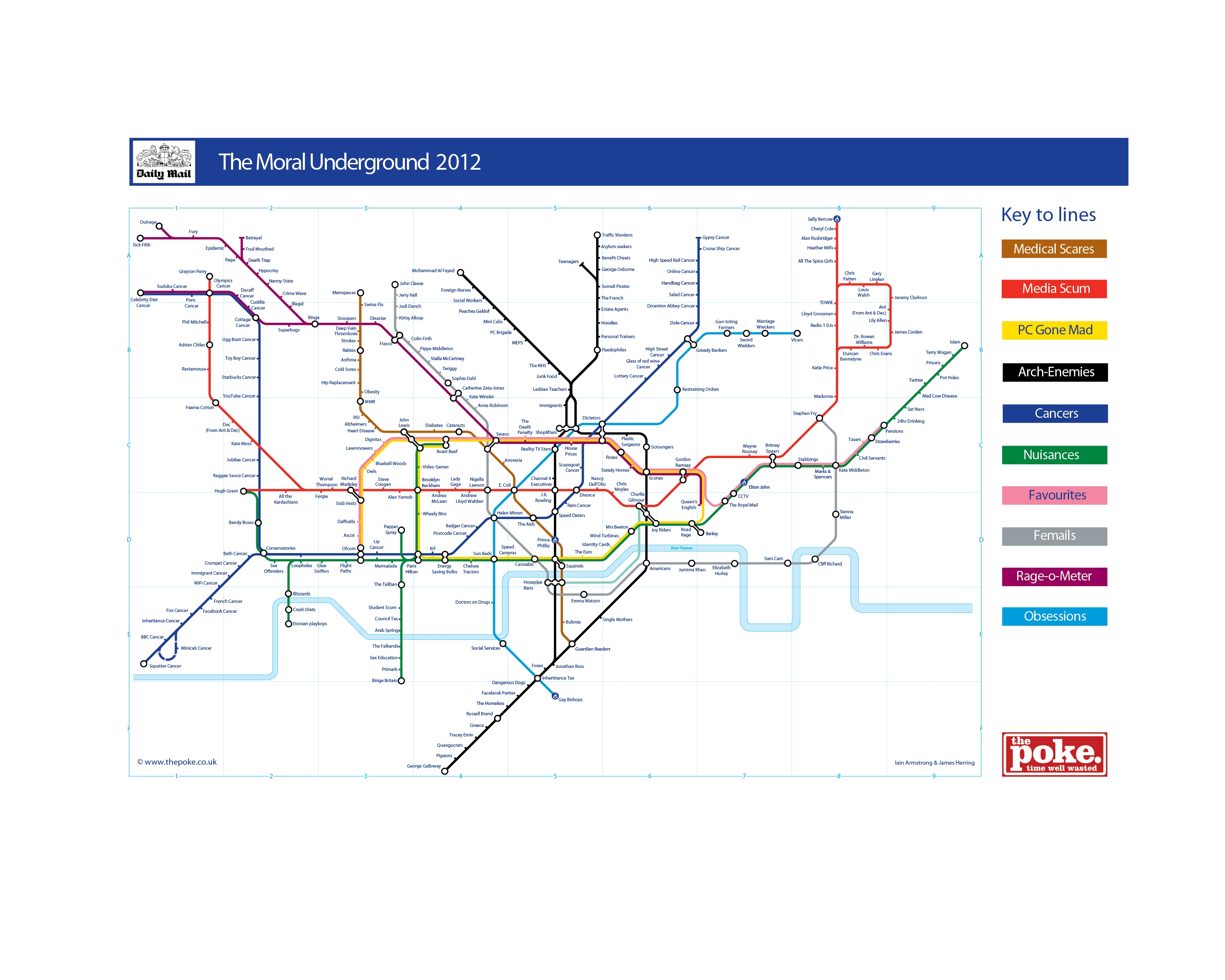 The Daily Mail Tube Map The Poke on