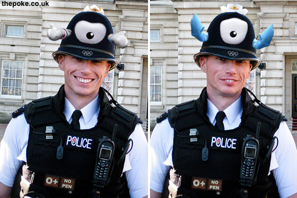 Police complain about new Olympic helmets