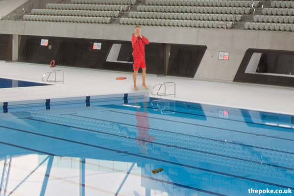 turd found in olympic pool - Olympic Swimming Pool 2012