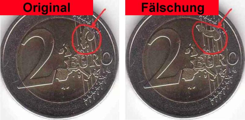 Kaip atskirti 2 eurų monetos originalą nuo klastotės...