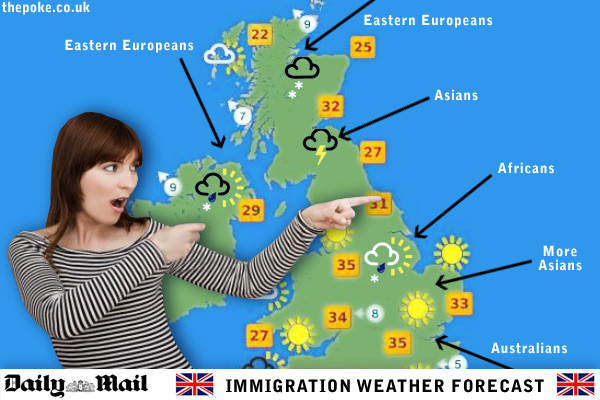 daily mail launch immigration weather forecast