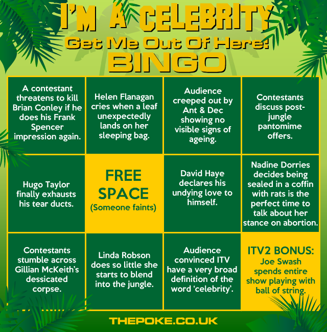 I'm A Celebrity... Get Me Out Of Here! Bingo The Poke