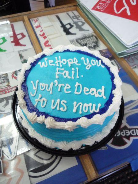Funny Quotes For Someone Leaving A Job : Inspirational cake designs the poke