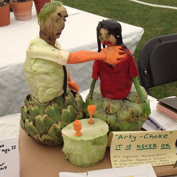 Vegetable carving of the day poke