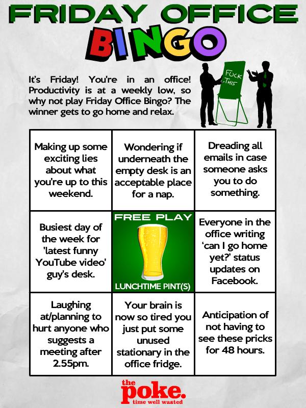 Play Friday Office Bingo The Poke