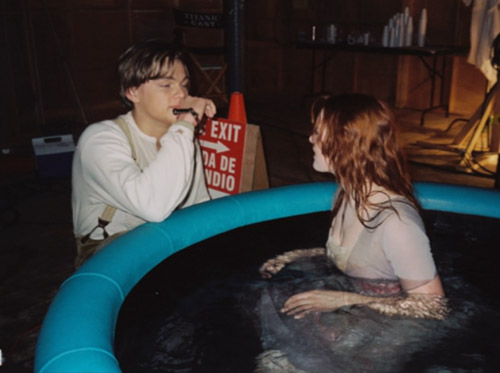 30 amazing behind the scenes movie moments the poke - Did the titanic have swimming pools ...