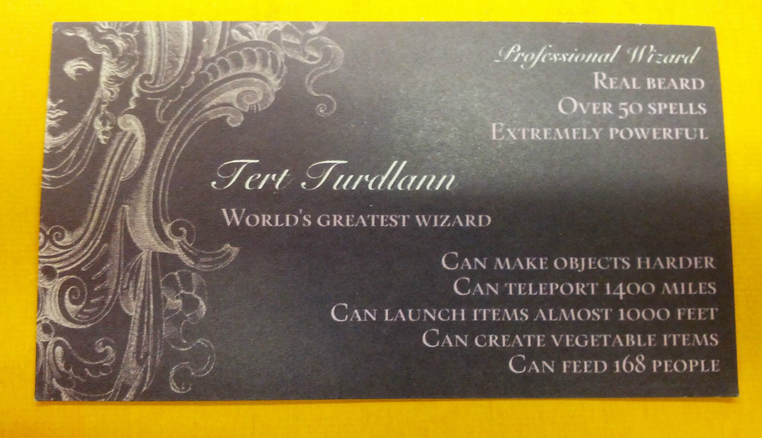 is it ok that these are the best business cards ever