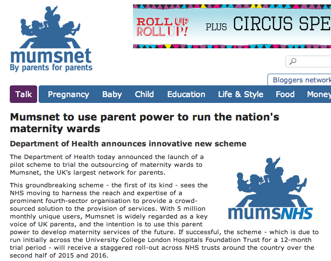 Mumsnet maternity wards - press release   Mumsnet