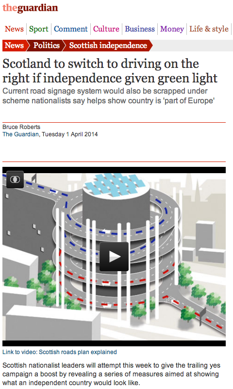 Scotland to switch to driving on the right if independence given green light   Politics   The Guardian