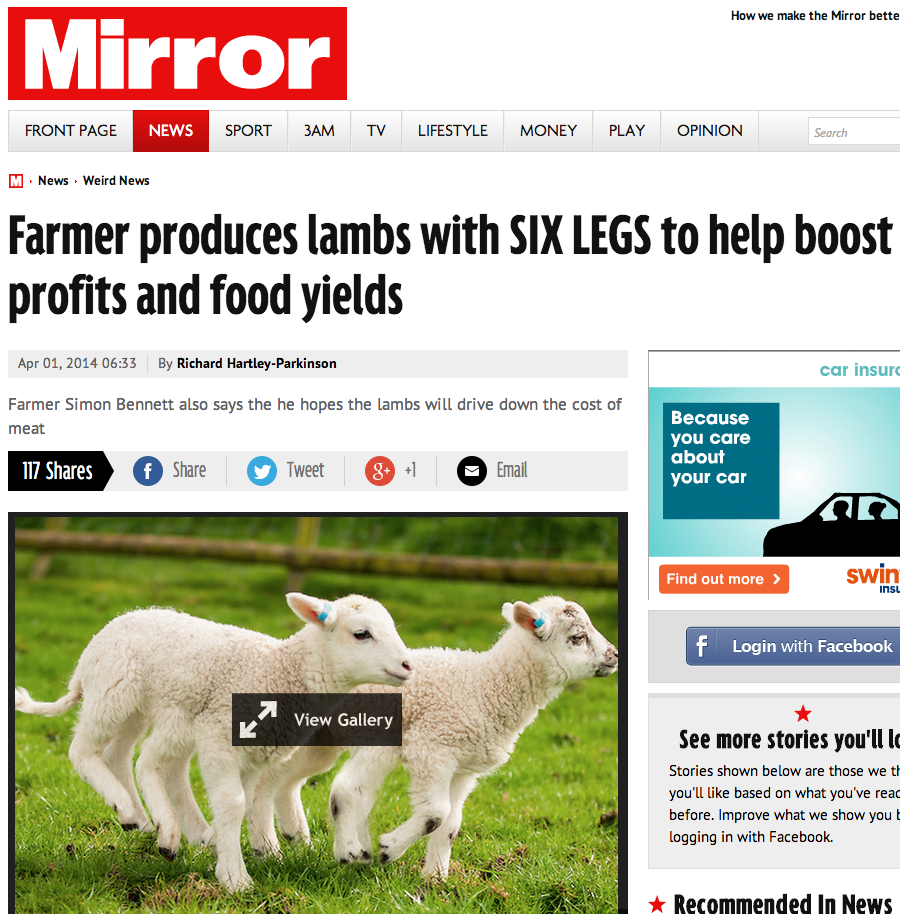Six-legged lambs produced to increase food yields and boost profits - Mirror Online