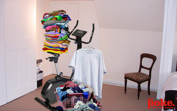 Clothes Horse Looks Just Like An Exercise Bike The Poke
