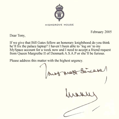 How To Address Prince Charles In A Letter