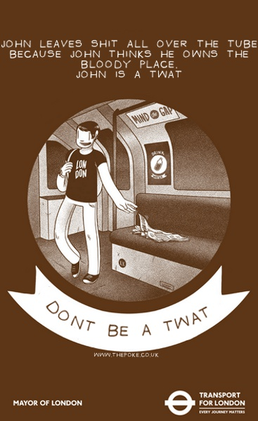 Tfl Etiquette Posters Made More Honest The Poke