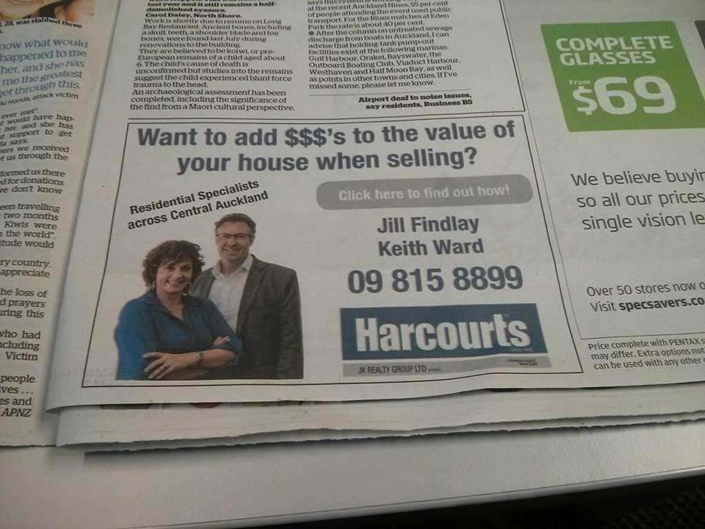 Harcourts real estate, New Zealand - Click here