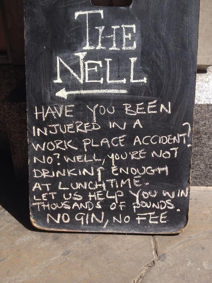 ... Rob Collins outside The Nell Gwynne Tavern in Covent Garden, London