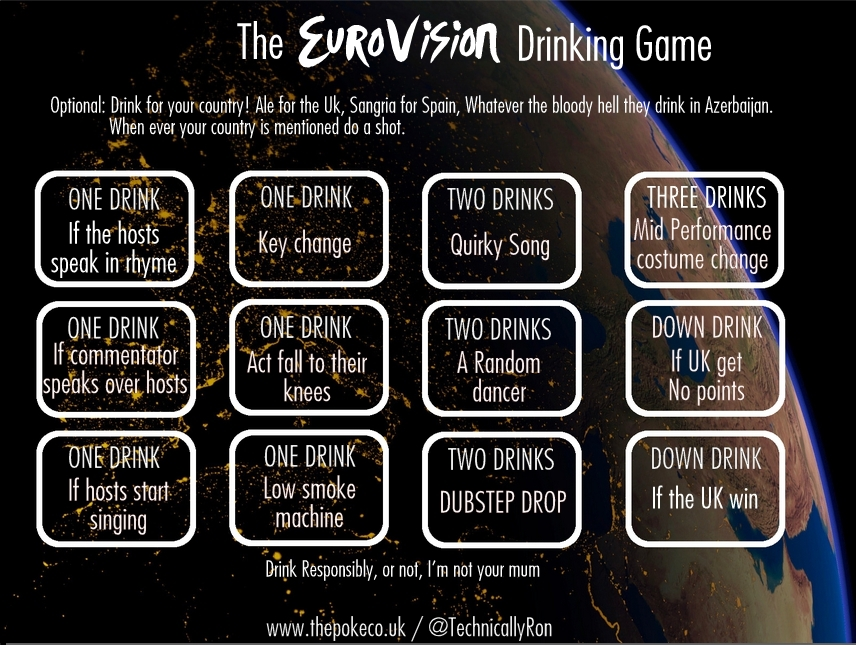 the eurovision drinking game the poke