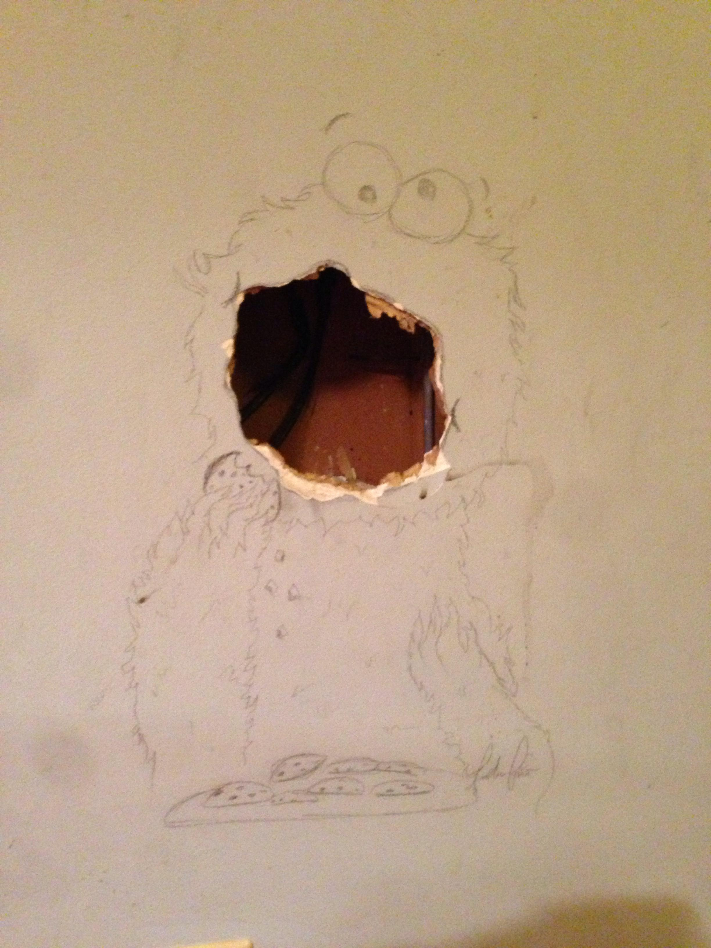Now This How To Disguise A Hole In The Wall The Poke
