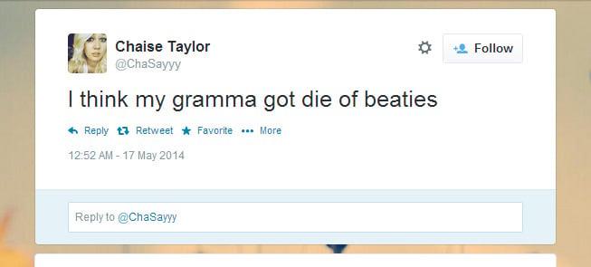 Online dating bad grammar tweets