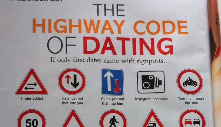 the highway code of dating Find and save ideas about highway code signs on pinterest | see more ideas about highway code road signs the highway code of dating - dating advice infographic.