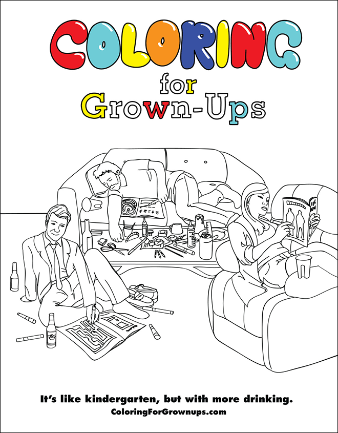 Finally. A Colouring Book For Bitter Grown-Ups The Poke