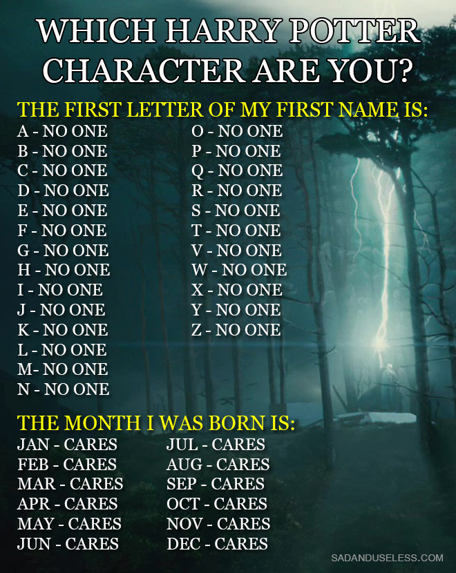 Which Harry Potter Character Are You The Poke