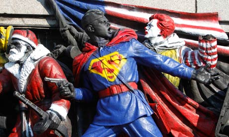 Sofia monument to Soviet invasion painted with superheroes