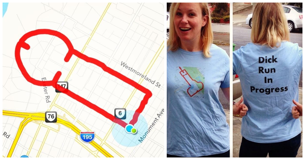 Woman Uses Running App To Draw Pictures (Mostly Of Cocks)