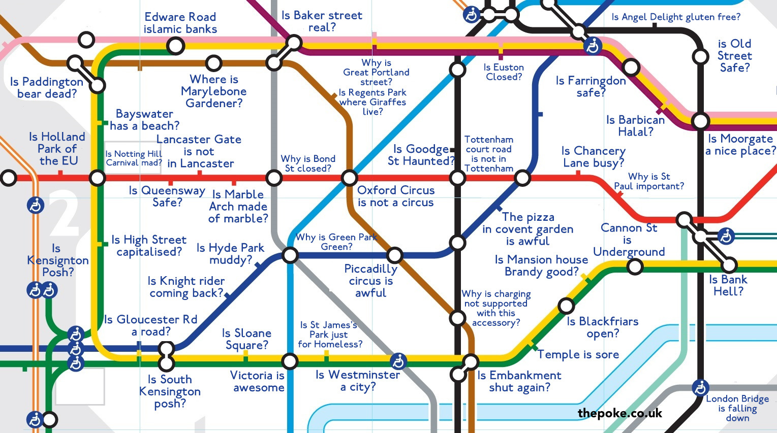Subway Map Google Maps How.The Google Autocomplete Map Of The London Underground The Poke
