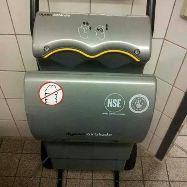 Thoughtful Dyson Airblade Sticker The Poke