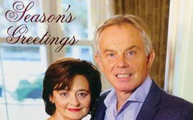 The Internet Reacts To Tony Blair's Christmas Card The Poke