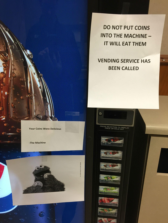 machine broken