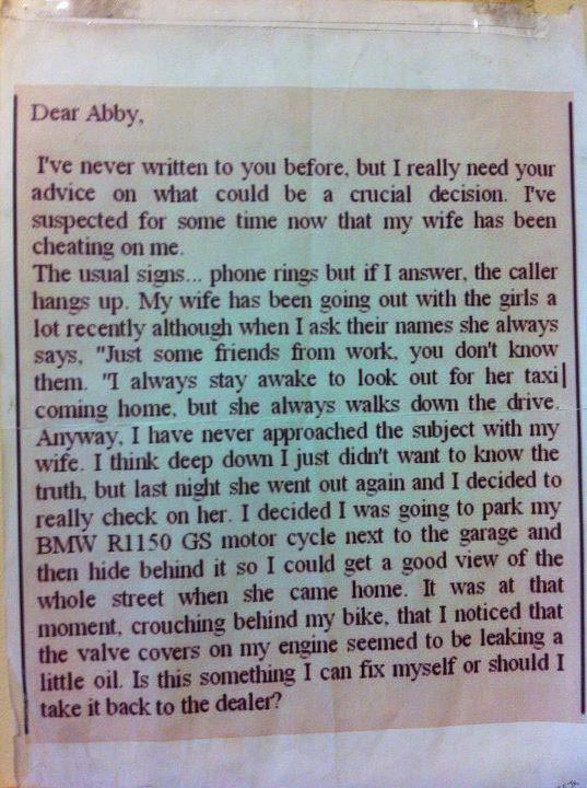 Agony Aunt letter of the day The Poke