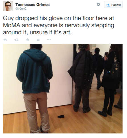 Tennessee-Grimes-on-Twitter-Guy-dropped-his-glove-on-the-floor-here-at-MoMA-and-everyone-is-nervously-stepping-around-it-unsure-if-its-art.-http-t.co-LeRHQaKmvX-