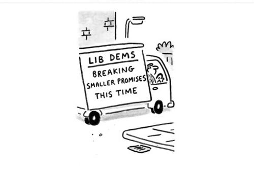cartoon polling station
