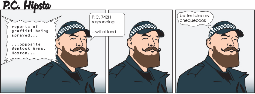 The inevitable hipstercop comic strip is here the poke