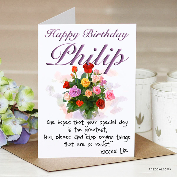 Leaked The Queen S Birthday Card To Prince Philip The Poke