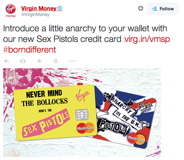 virgin money introduces pistols credit card