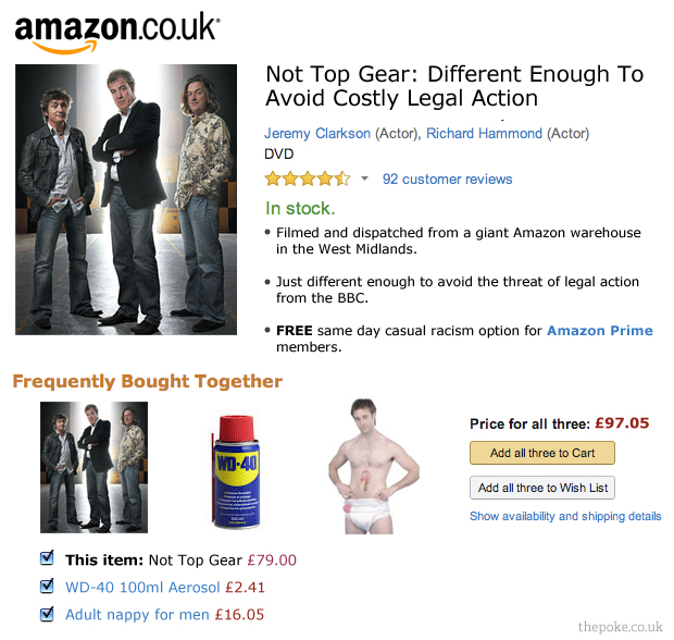 amazon reveals details of the new top gear the poke. Black Bedroom Furniture Sets. Home Design Ideas